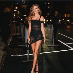 Danielle Guizio Lynx Ruched Dress